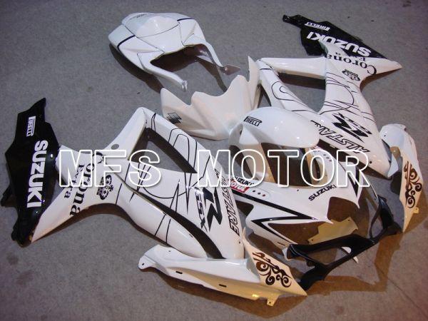 Suzuki GSXR600 GSXR750 2008-2010 Injection ABS Fairing - Corona - Black White - MFS5033