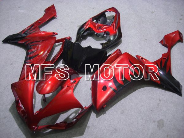 Yamaha YZF-R1 2007-2008 Injection ABS Fairing - Flame - Red Black - MFS5061