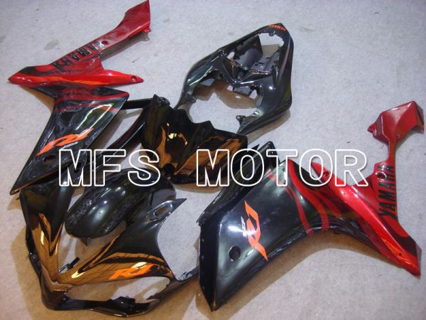 Yamaha YZF-R1 2007-2008 Injection ABS Fairing - Flame - Red Black - MFS5062