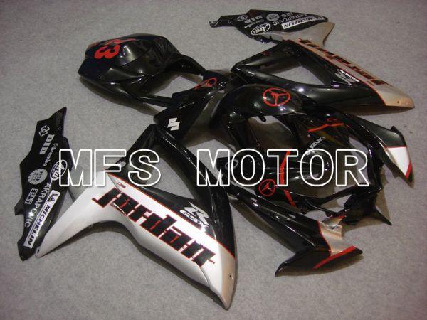 Suzuki GSXR600 GSXR750 2008-2010 Injection ABS Fairing - Jordan - Black Silver - MFS5064