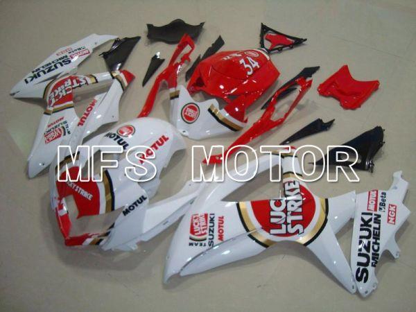 Suzuki GSXR600 GSXR750 2008-2010 Injection ABS Fairing - Lucky Strike - Red White - MFS5068