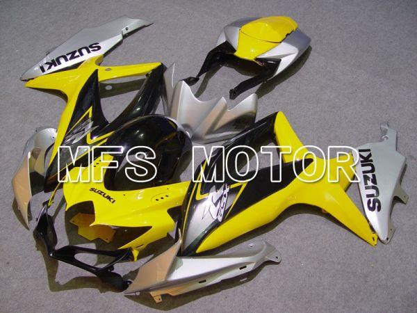 Suzuki GSXR600 GSXR750 2008-2010 Injection ABS Fairing - Factory Style - Yellow Silver Black - MFS5114