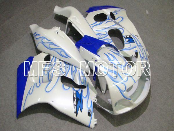 Suzuki GSXR600 1997-2000 ABS Fairing - Flame - Blue White - MFS5222