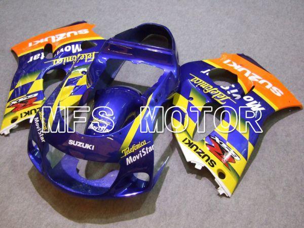 Suzuki GSXR600 1997-2000 ABS Fairing - Movistar - Blue Yellow - MFS5223