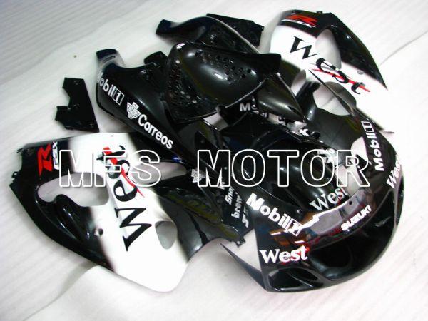 Suzuki GSXR600 1997-2000 ABS Fairing - West - Black White - MFS5262