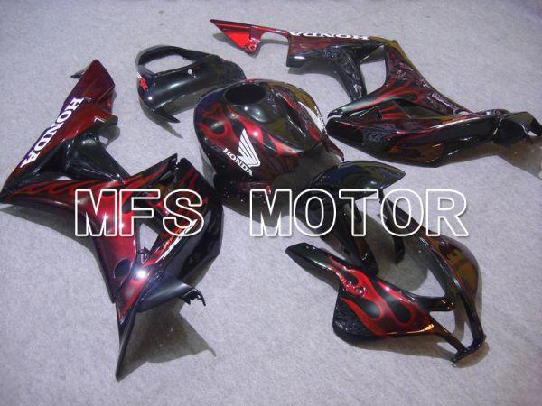 Honda CBR600RR 2007-2008 Injection ABS Fairing - Flame - Black Red - MFS5618