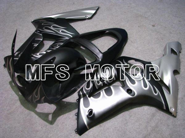 Kawasaki NINJA ZX6R 2003-2004 Injection ABS Fairing - Flame - Black Silver - MFS5622