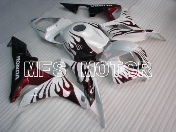 Honda CBR600RR 2007-2008 Injection ABS Fairing - Flame - White Red - MFS5626