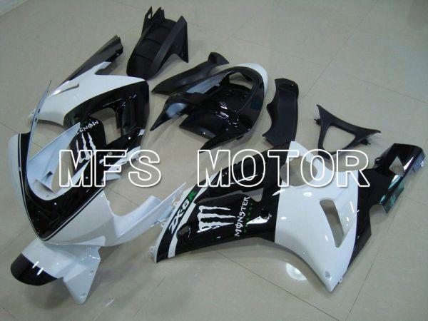 Kawasaki NINJA ZX6R 2003-2004 Injection ABS Fairing - Monster - Black White - MFS5629