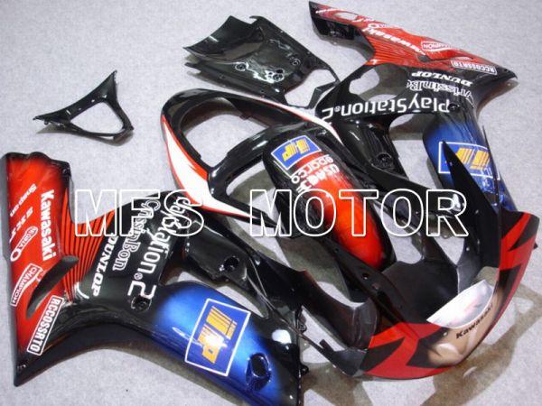 Kawasaki NINJA ZX6R 2003-2004 Injection ABS Fairing - Play Station - Black Red - MFS5641