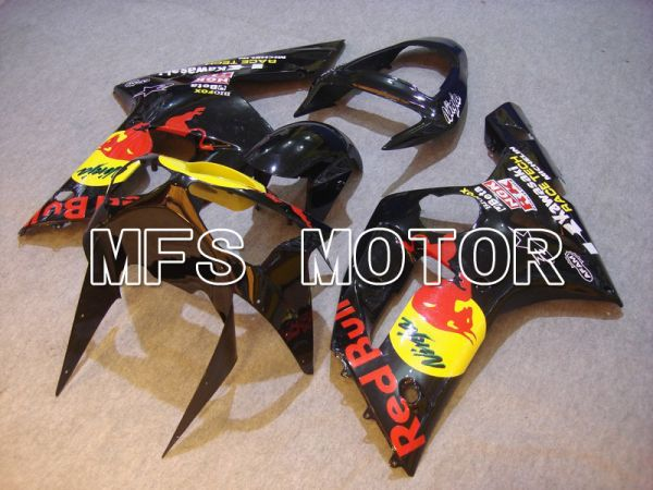 Kawasaki NINJA ZX6R 2003-2004 Injection ABS Fairing - Red Bull - Black - MFS5644