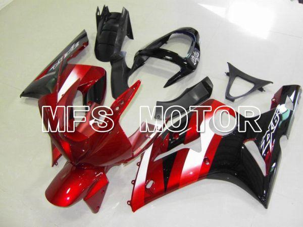 Kawasaki NINJA ZX6R 2003-2004 Injection ABS Fairing - Factory Style - Black Red - MFS5650