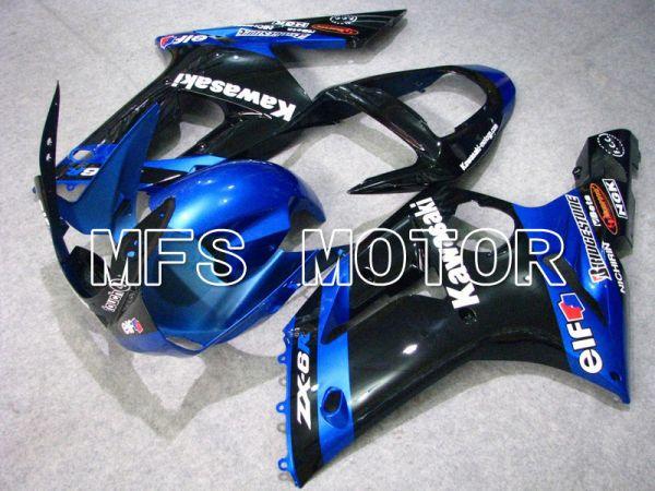 Kawasaki NINJA ZX6R 2003-2004 Injection ABS Fairing - Factory Style - Black Blue - MFS5658