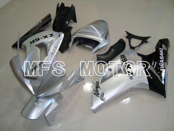 Kawasaki NINJA ZX6R 2003-2004 Injection ABS Fairing - Factory Style - Silver - MFS5671