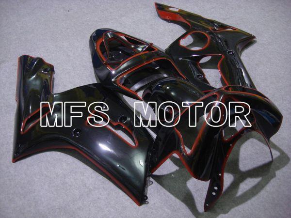 Kawasaki NINJA ZX6R 2003-2004 Injection ABS Fairing - Factory Style - Black - MFS5673