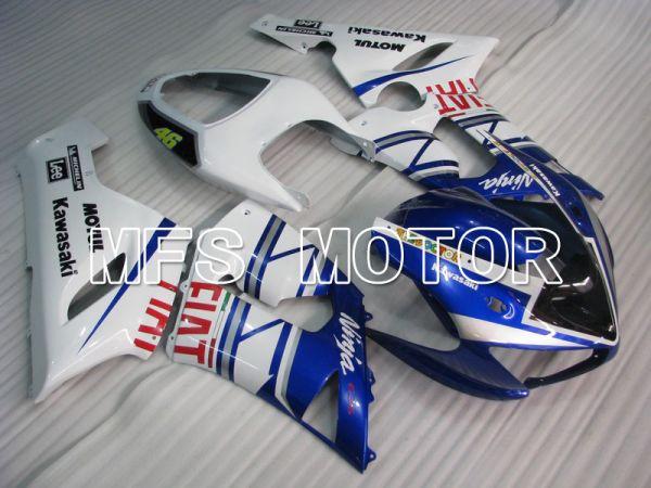 Kawasaki NINJA ZX6R 2005-2006 Injection ABS Fairing - FIAT - Blue White - MFS5684