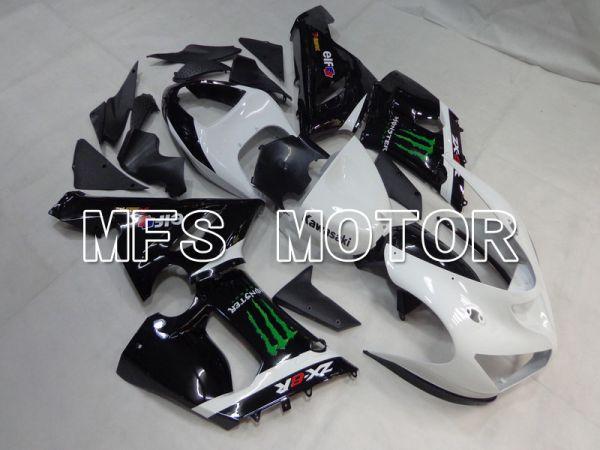 Kawasaki NINJA ZX6R 2005-2006 Injection ABS Fairing - Monster - Black White - MFS5696