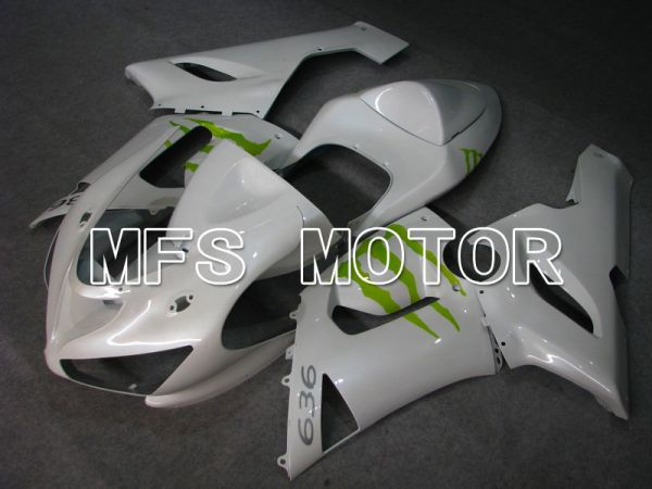 Kawasaki NINJA ZX6R 2005-2006 Injection ABS Fairing - Monster - White - MFS5699