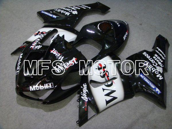 Kawasaki NINJA ZX6R 2005-2006 Injection ABS Fairing - West - Black White - MFS5717