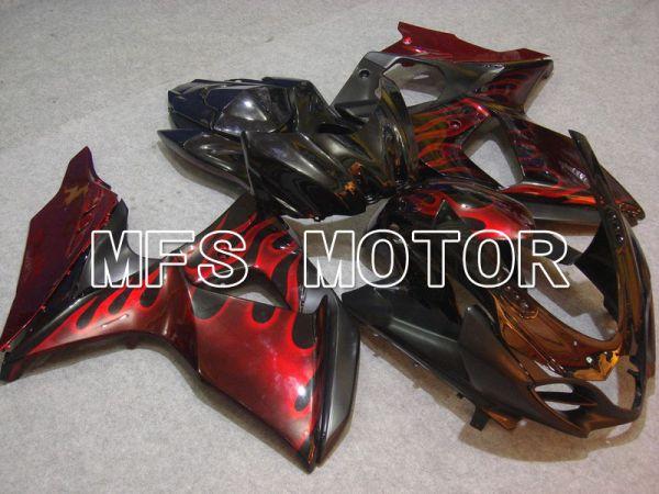 Suzuki GSXR1000 2009-2016 Injection ABS Fairing - Flame - Black Red - MFS5729