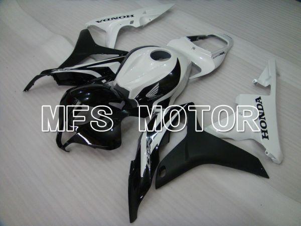 Honda CBR600RR 2007-2008 Injection ABS Fairing - Factory Style - Black Matte White - MFS5730
