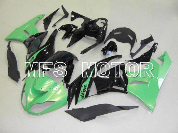 Kawasaki NINJA ZX6R 2009-2012 Injection ABS Fairing - Factory Style - Black Green - MFS5820