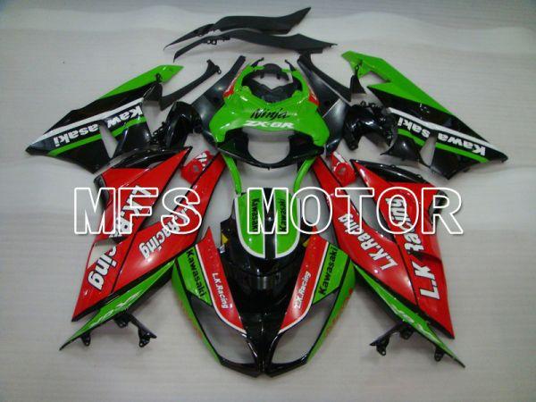 Kawasaki NINJA ZX6R 2009-2012 Injection ABS Fairing - Motocard - Red Green - MFS5828