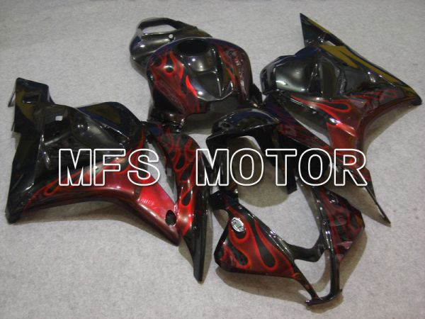 Honda CBR600RR 2009-2012 Injection ABS Fairing - Flame - Red Black - MFS5838