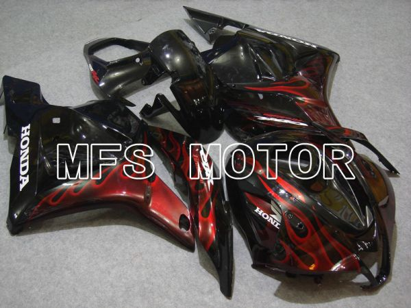 Honda CBR600RR 2009-2012 Injection ABS Fairing - Flame - Red Black - MFS5841