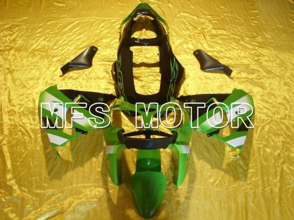 Kawasaki NINJA ZX9R 2000-2001 ABS Fairing - Factory Style - Black Green - MFS5896