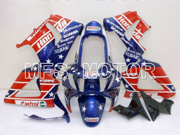 Honda CBR900RR 929 2000-2001 Injection ABS Fairing - Castrol - Blue Red - MFS5904