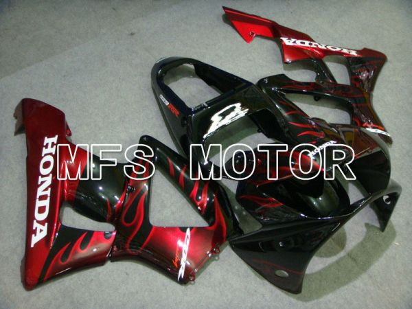 Honda CBR900RR 929 2000-2001 Injection ABS Fairing - Flame - Black Red - MFS5926