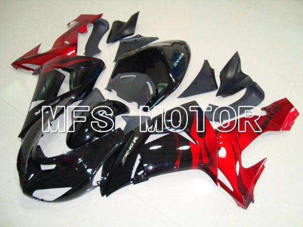 Kawasaki NINJA ZX10R 2006-2007 Injection ABS Fairing - Flame - Black Red - MFS5966