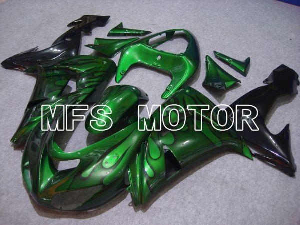 Kawasaki NINJA ZX10R 2006-2007 Injection ABS Fairing - Flame - Black Green - MFS5967