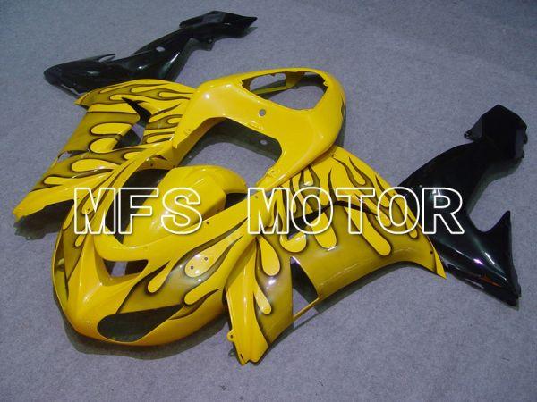Kawasaki NINJA ZX10R 2006-2007 Injection ABS Fairing - Flame - Black Yellow - MFS5971