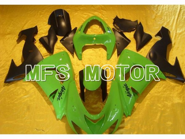 Kawasaki NINJA ZX10R 2006-2007 Injection ABS Fairing - Factory Style - Black Green - MFS5987
