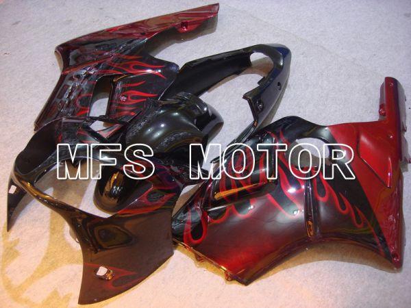 Kawasaki NINJA ZX12R 2000-2001 Injection ABS Fairing - Flame - Black Red - MFS6035