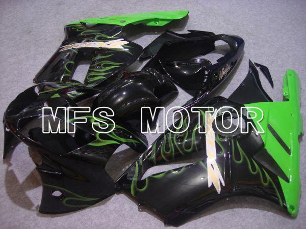 Kawasaki NINJA ZX12R 2002-2005 Injection ABS Fairing - Flame - Black Green - MFS6053