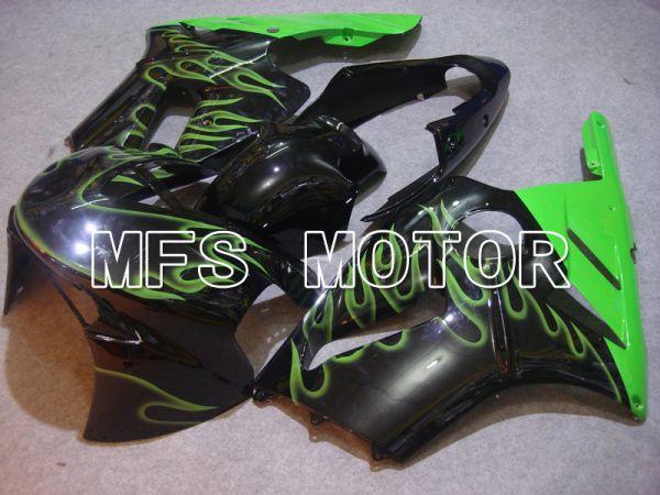 Kawasaki NINJA ZX12R 2002-2005 Injection ABS Fairing - Flame - Black Green - MFS6060