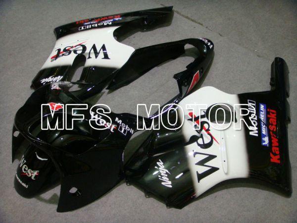 Kawasaki NINJA ZX12R 2002-2005 Injection ABS Fairing - West - Black White - MFS6073