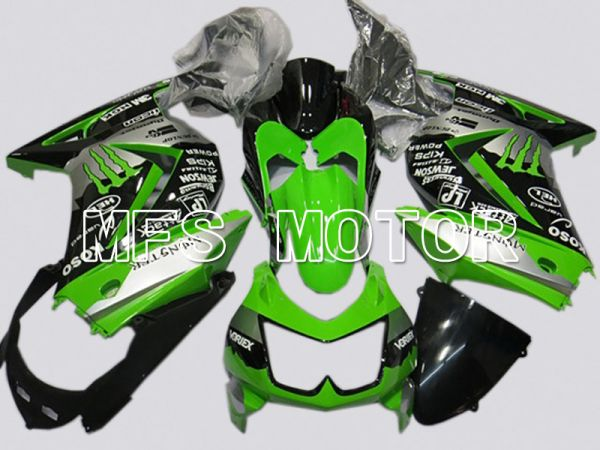Kawasaki NINJA EX250 2008-2012 Injection ABS Fairing - Monster - Black Green - MFS6142