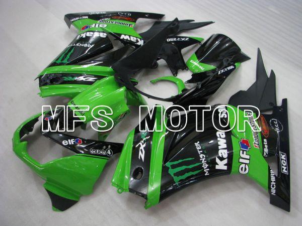 Kawasaki NINJA EX250 2008-2012 Injection ABS Fairing - Monster - Black Green - MFS6175