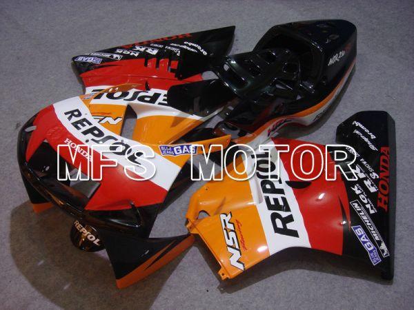 Honda NSR250 MC21 P3 1990-1993 Injection ABS Fairing - Repsol - Red Black Orange - MFS6244