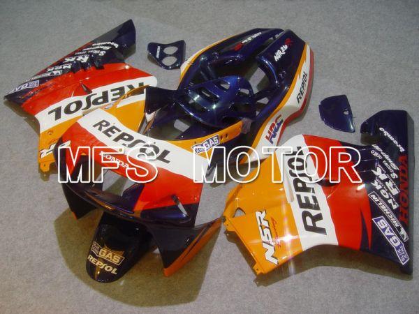 Honda NSR250 MC21 P3 1990-1993 Injection ABS Fairing - Repsol - Red Blue Orange - MFS6246