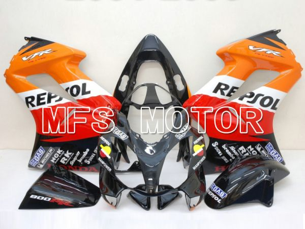 Honda VFR800 2002-2013 Injection ABS Fairing - Repsol - Red Orange Black - MFS6334