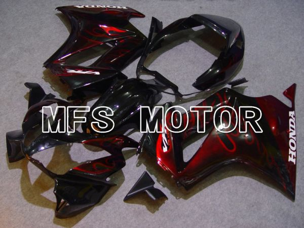 Honda VFR800 2002-2013 ABS Fairing - Flame - Red Black - MFS6345