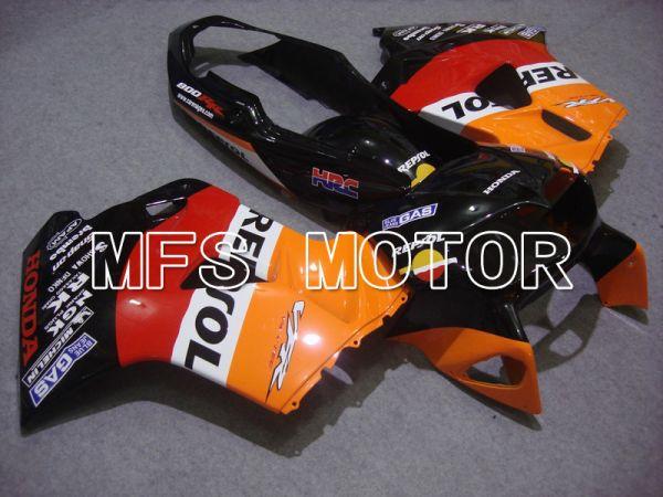 Honda VFR800 1998-2001 ABS Fairing - Repsol - Red Black Orange - MFS6376