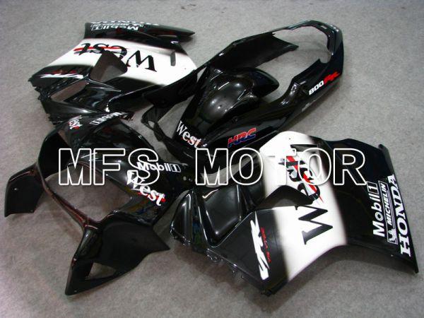 Honda VFR800 1998-2001 ABS Fairing - West - Black White - MFS6385