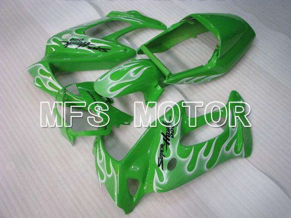 Honda VTR1000F 1997-1998 ABS Fairing - Flame - White Green - MFS6405