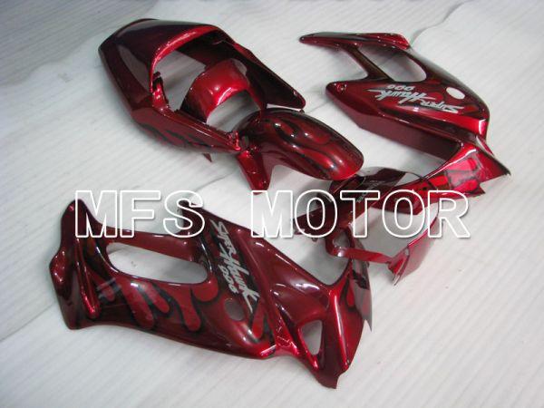 Honda VTR1000F 1997-1998 ABS Fairing - Flame - Black Red wine color - MFS6407